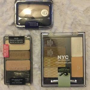 New Eyeshadow bundle Cover girl, NYC, wet n' wild